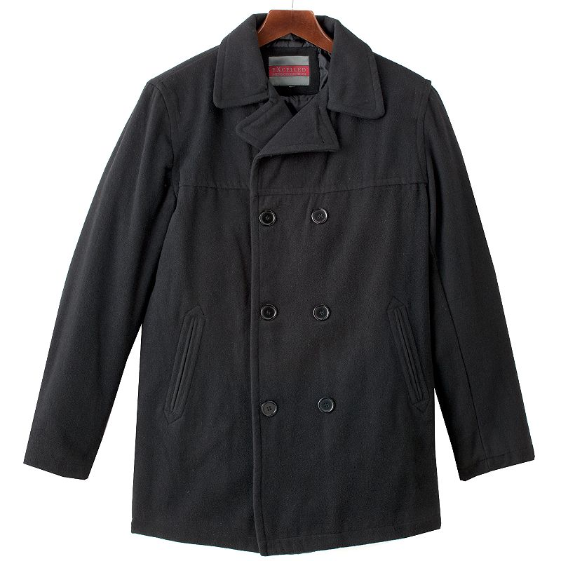 Men's Excelled Wool Blend Peacoat