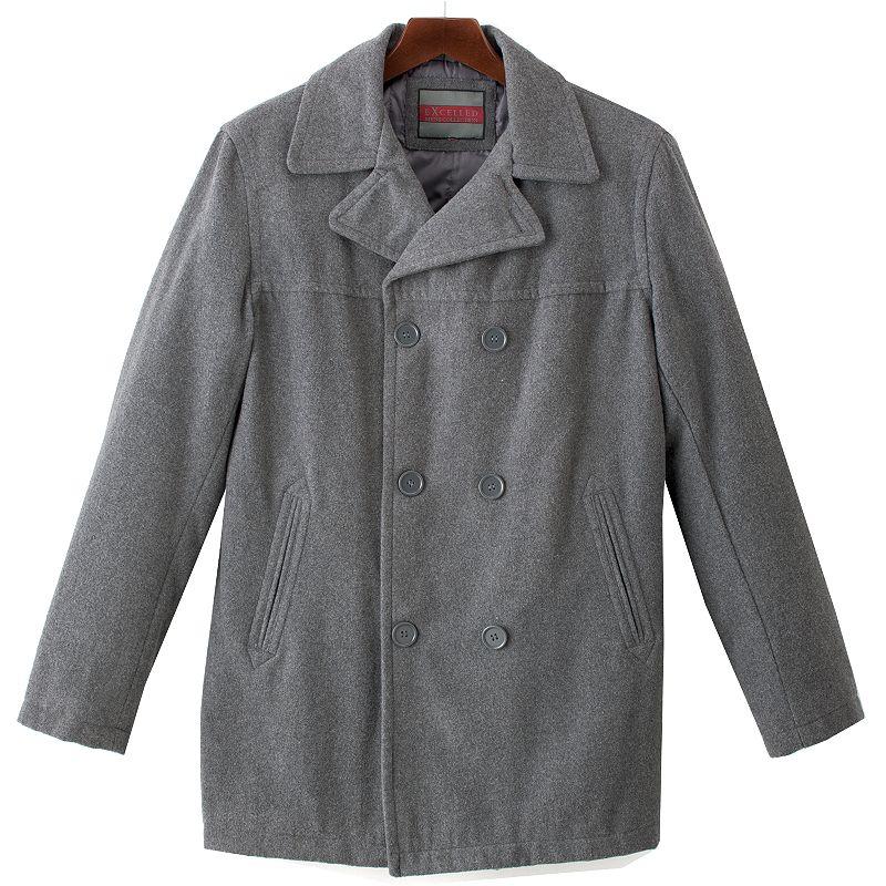 Men's Excelled Wool Blend Peacoat