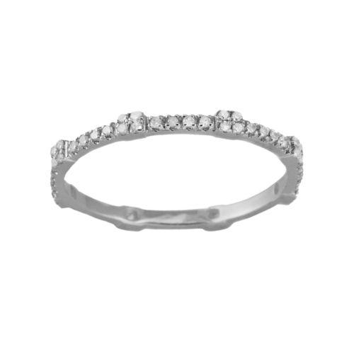 10k White Gold .22-ct. T.W. Diamond Eternity Stack Ring