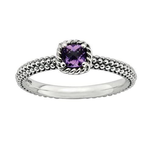 Stacks and Stones Sterling Silver Amethyst Stack Ring