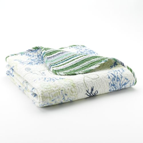 Coral Reversible Quilted Throw
