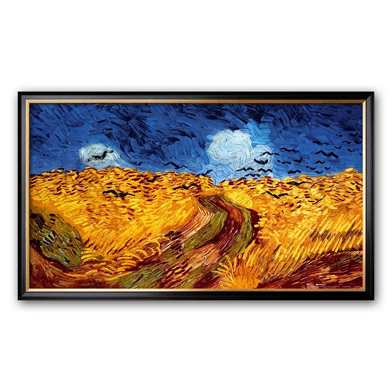 Art.com Wheatfield with Crows, c.1890 Framed Art Print by Vincent van Gogh