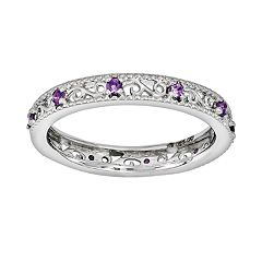 Stacks & Stones Sterling Silver Amethyst Stack Ring by
