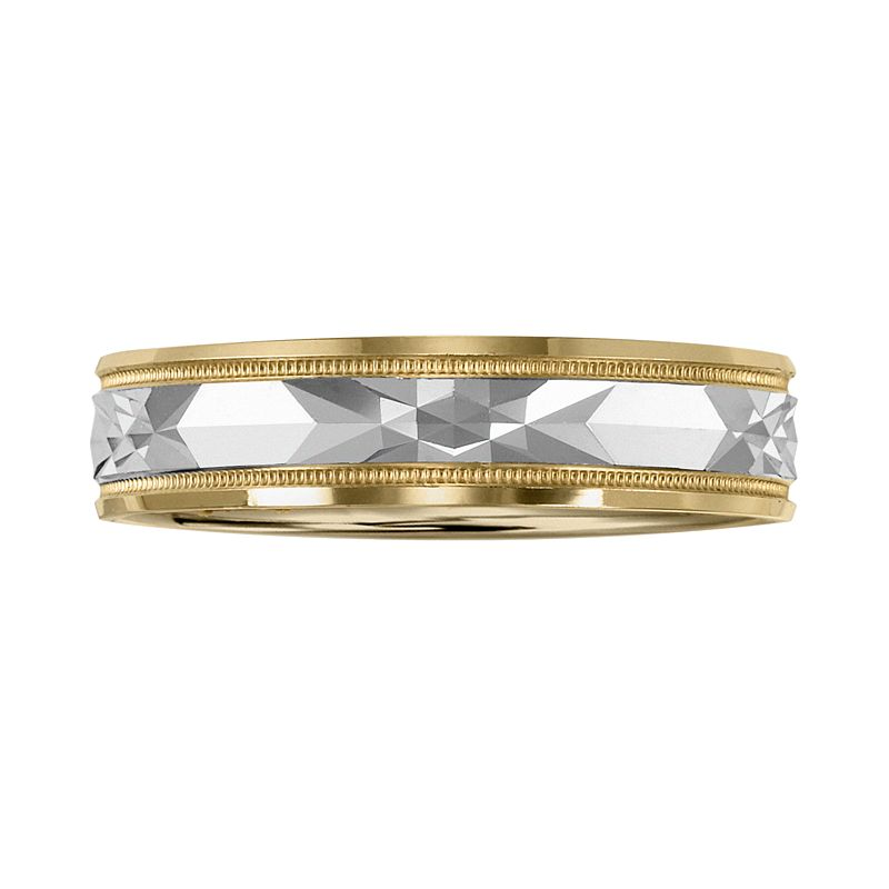 Cherish Always 10k Gold Two Tone Wedding Band - Men