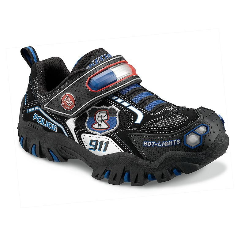 skechers hot lights damager police ii light up shoes toddler boys. Black Bedroom Furniture Sets. Home Design Ideas