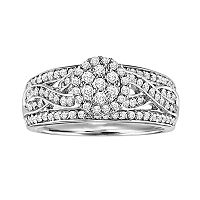 Love Always Platinum Over Silver 3/4-ct. T.W. Diamond Ring