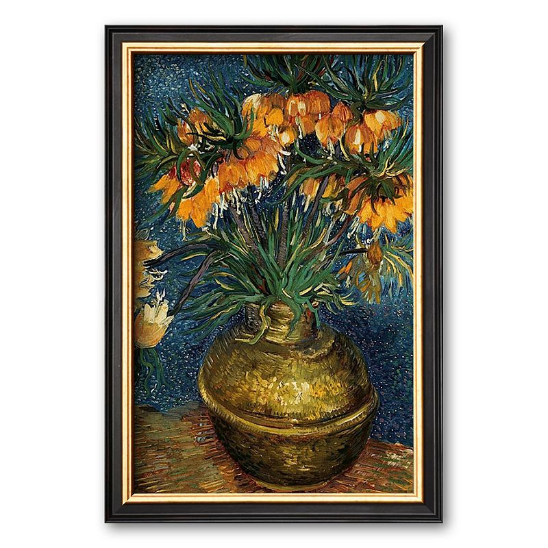 Art.com Crown Imperial Fritillaries in a Copper Vase, c.1886 Framed Art Print by Vincent van Gogh