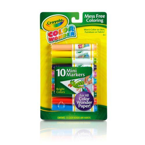 Crayola 10-pk. Color Wonder Bright Mini Markers
