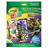 Teenage Mutant Ninja Turtles Color Wonder Metallic Set by Crayola