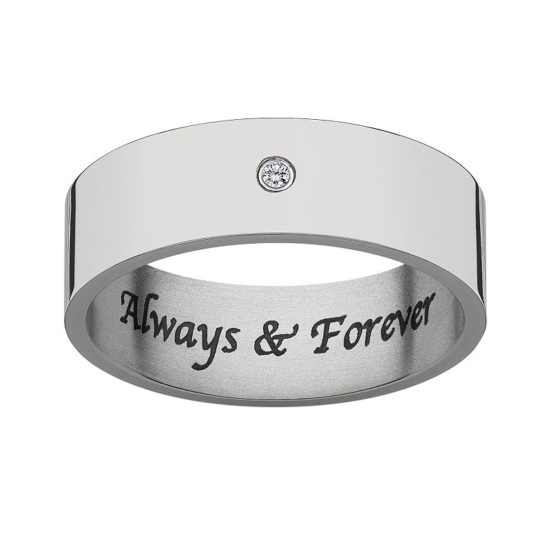 Sweet Sentiments Diamond Accent Titanium Wedding Ring