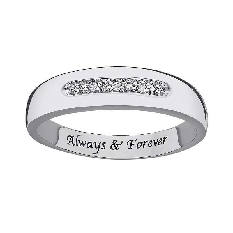 Sweet Sentiments Sterling Silver Diamond Accent Band Ring