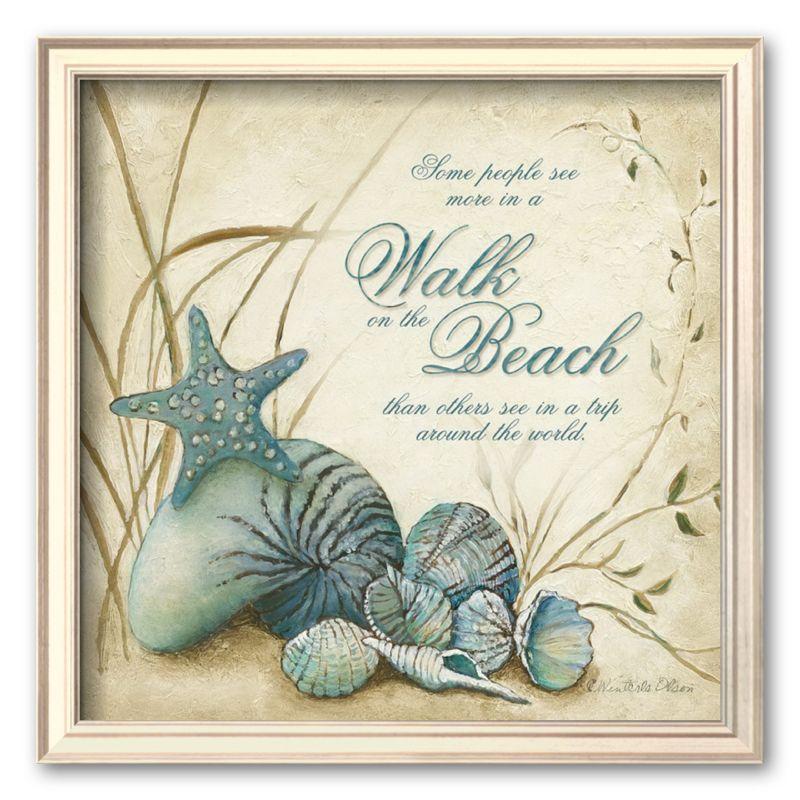 Art com the beach framed art print by charlene olson
