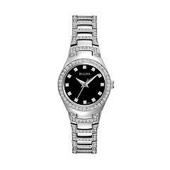 Bulova Women's Crystal Stainless Steel Watch 96L170 by