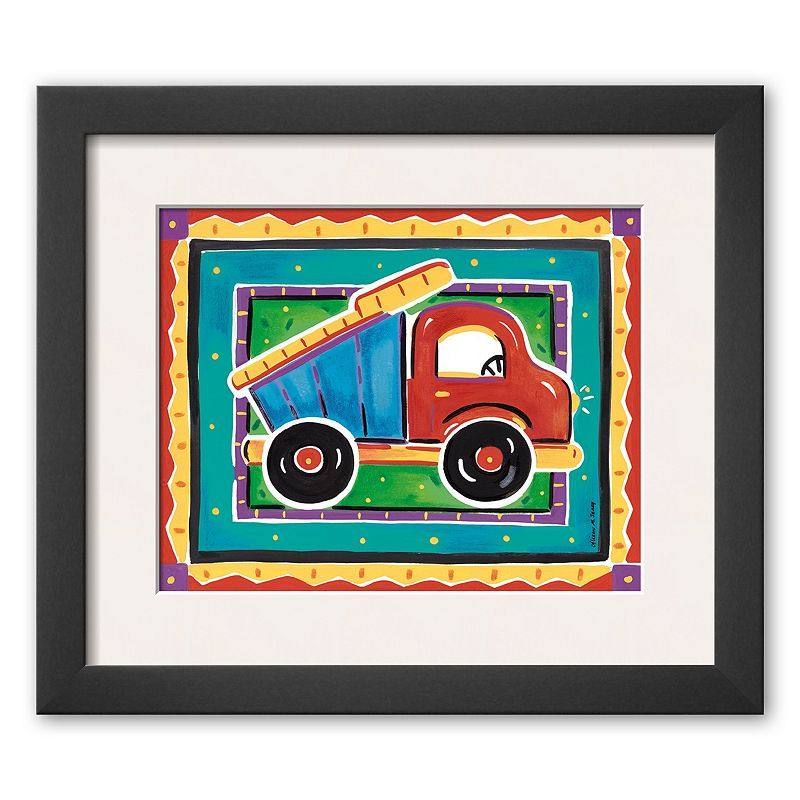 "Art.com ""Dump Truck"" Framed Art Print By Alison Jerry (Soho Thin)"