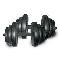 Sunny Health & Fitness 40-lb. Vinyl Dumbbell Set