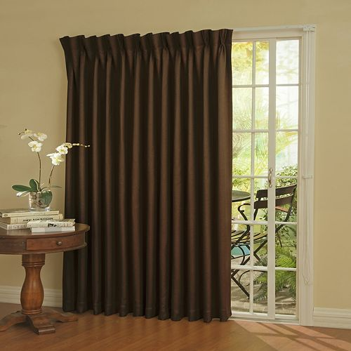 eclipse blackout thermal patio door curtain panel 100 39 39 x 84 39 39. Black Bedroom Furniture Sets. Home Design Ideas