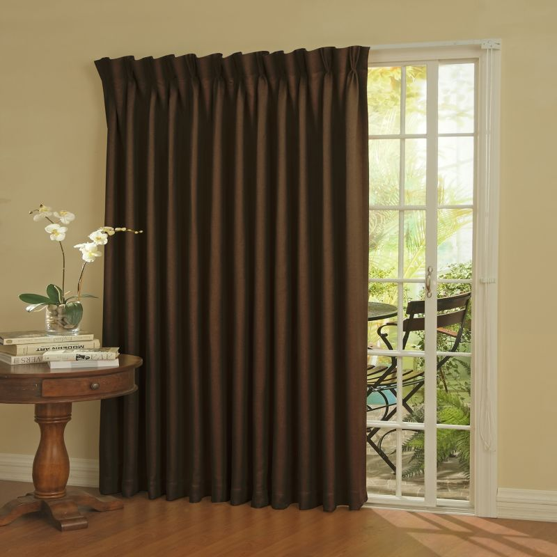 eclipse Blackout Thermaweave Patio Door Curtain Panel - 100'' x 84''