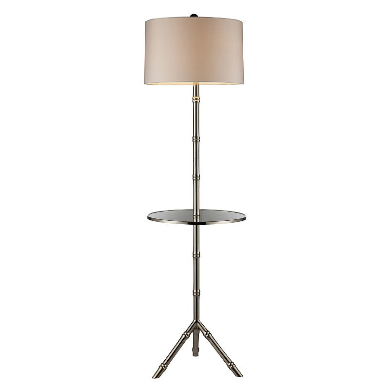 Silver-Plated Floor Lamp & End Table