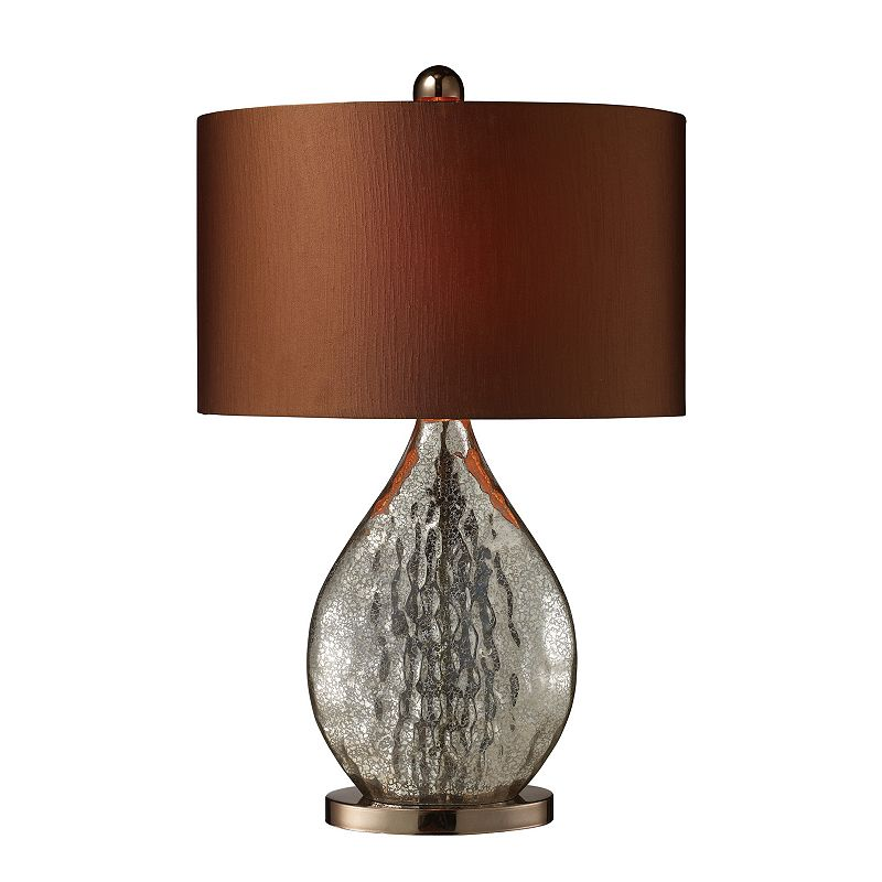 Teardrop Brown Table Lamp
