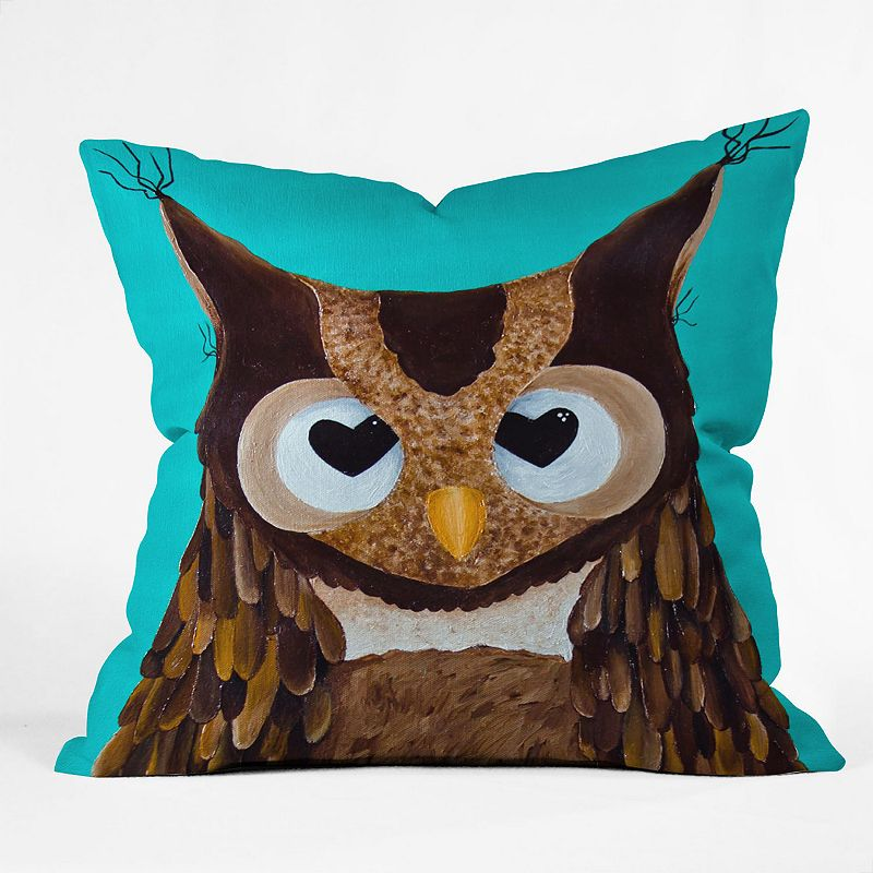 DENY Designs Mandy Hazell Owl Love You Decorative Pillow - 26 x 26