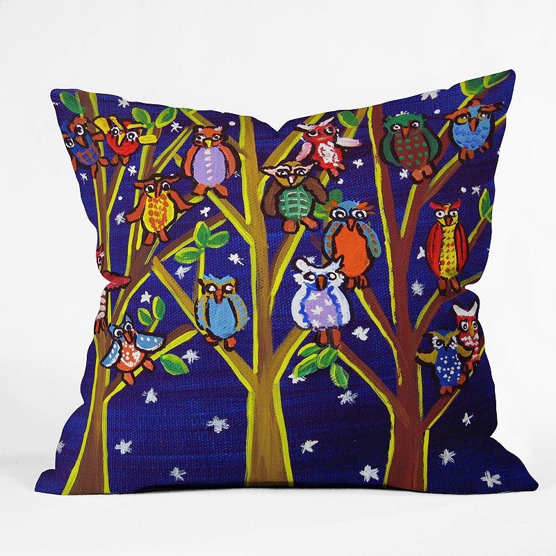 DENY Designs Renie Britenbucher Owl Party Decorative Pillow - 26 x 26