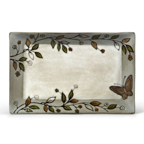 Pfaltzgraff Everyday Rustic Leaves Rectangular Serving Platter