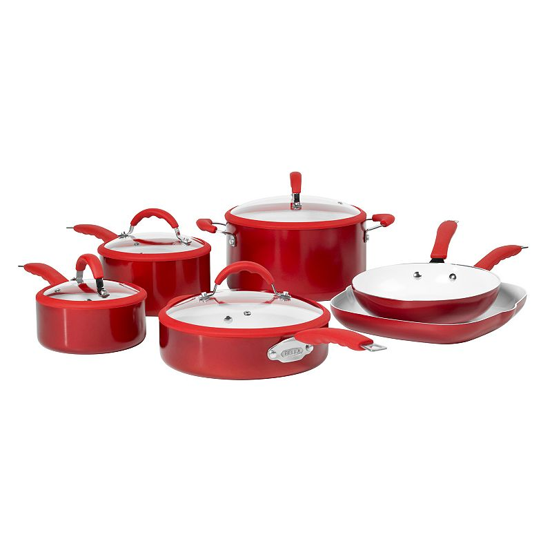 Bella 10-pc. Nonstick Aluminum Cookware Set
