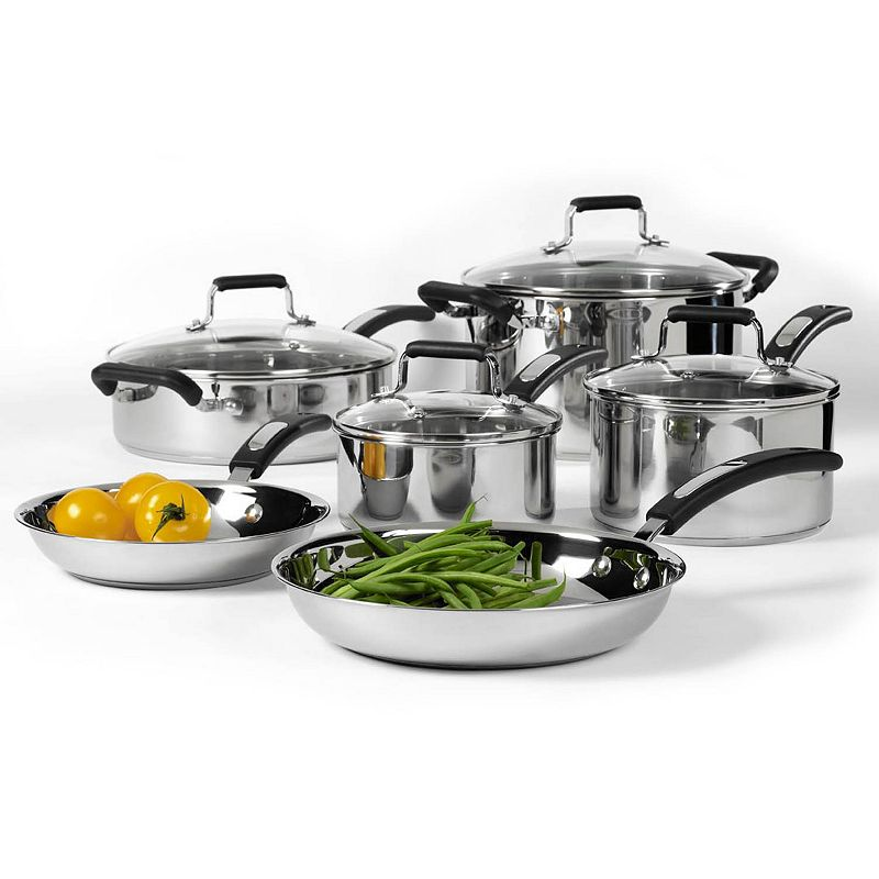 Denmark 10-pc. Stainless Steel Cookware Set