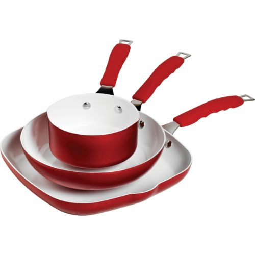 Bella 3-pc. Ceramic Nonstick Aluminum Cookware Set