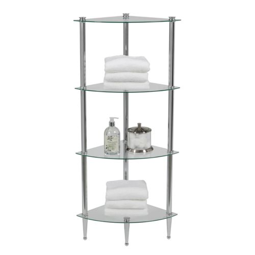 Creative Bath L'etagere 4-Shelf Corner Tower