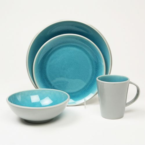Baum Canvas Teal 16-pc. Dinnerware Set