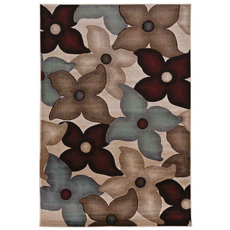 Linon Home Decor Milan Graphic Floral Rug - 1'10'' x 2'10''
