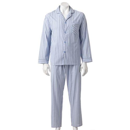 Hanes Classics Striped Woven Pajama Set