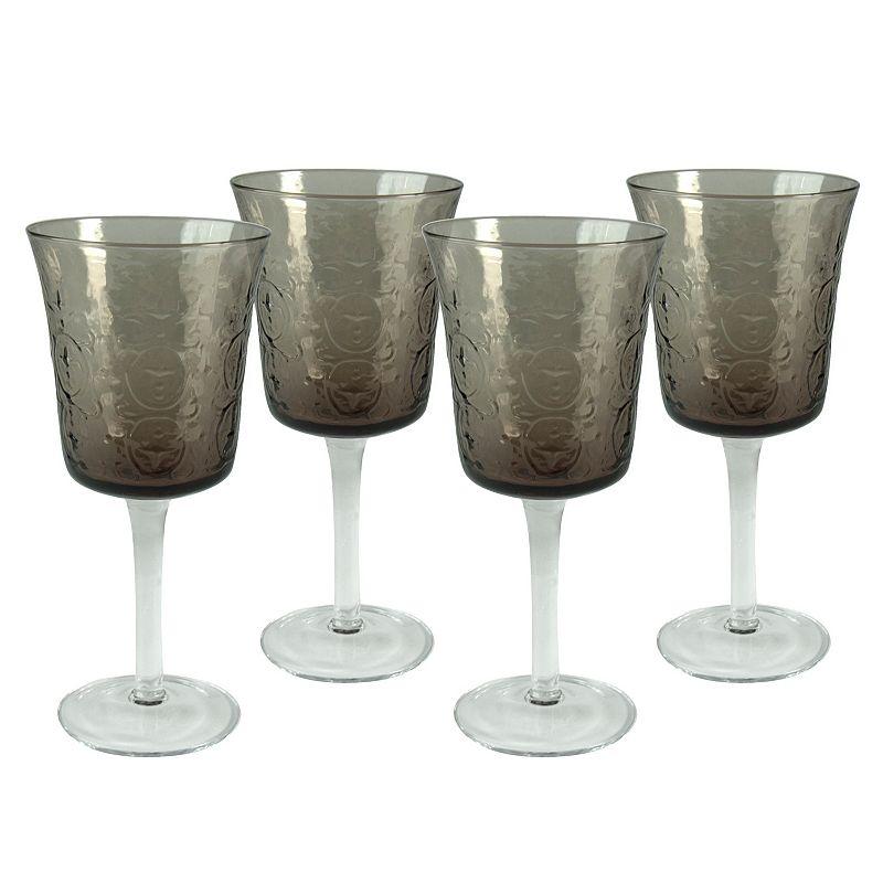 Artland Echo Smoke 4-pc. Water Goblet Set