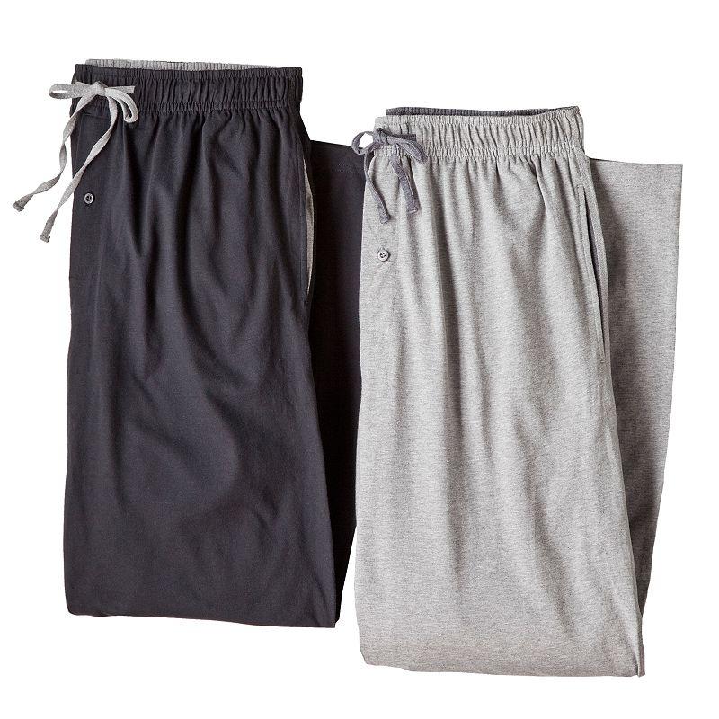 Big & Tall Hanes 2-pk. Solid Knit Lounge Pants
