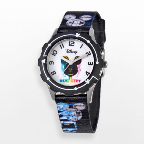 Disney Mickey Mouse Stainless Steel Watch - Juniors