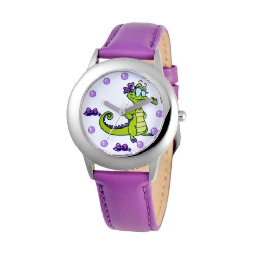 Disney Allie Stainless Steel Leather Watch - Juniors