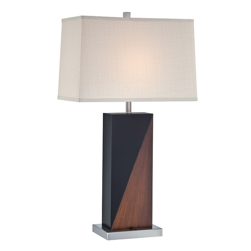 wood fluorescent table lamp kohl 39 s. Black Bedroom Furniture Sets. Home Design Ideas