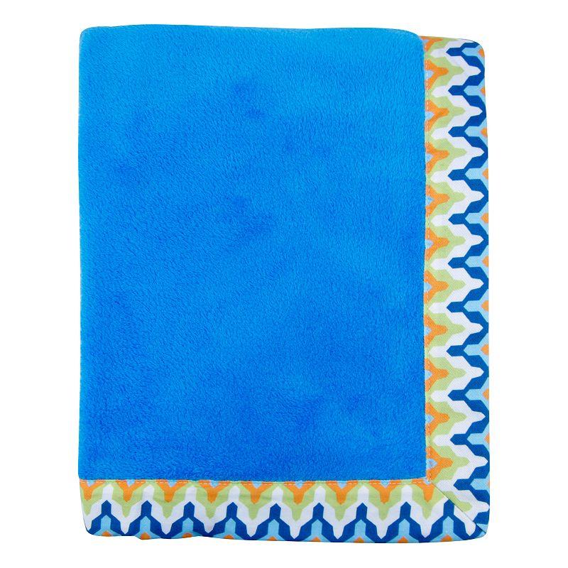 Trend Lab Levi Framed Fleece Receiving Blanket