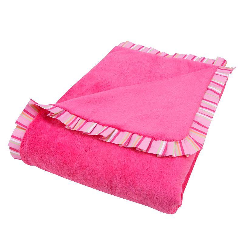 Trend Lab Savannah Ruffled Fleece Receiving Blanket