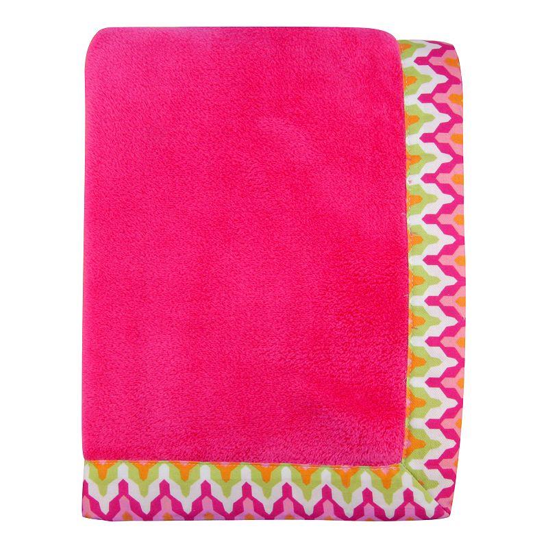 Trend Lab Savannah Framed Fleece Receiving Blanket