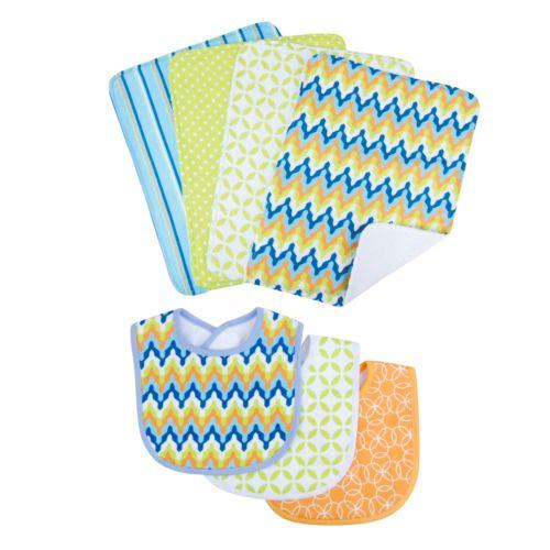 Trend Lab Levi 7-pc. Bib and Burp Cloth Set