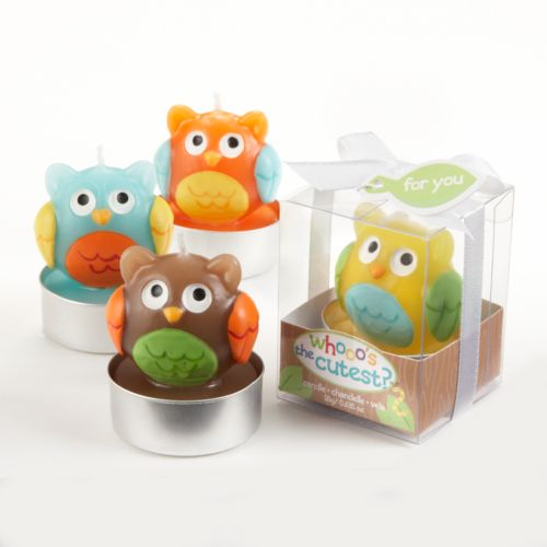 Kate Aspen 4-pk. Whooo's the Cutest Owl Candles