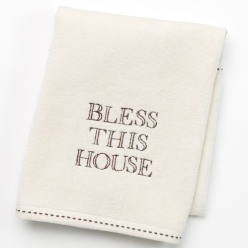 SONOMA life + style® Bless This House Monogram Hand Towel