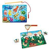 Melissa & Doug Fishing & Bug Catching Magnetic Game Bundle