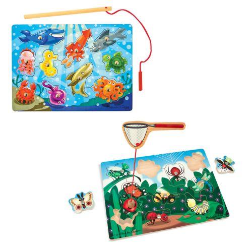 Melissa and Doug Fishing and Bug Catching Magnetic Game Bundle