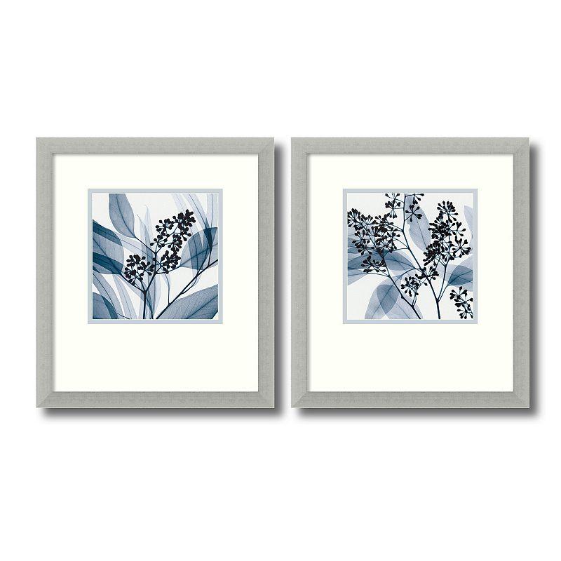 2 pc eucalyptus framed wall art set by steven meyers for Good look kohls wall art decals