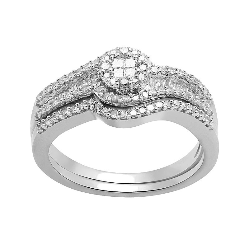Diamond Engagement Ring Set in 10k White Gold (1/2 ct. T.W.)