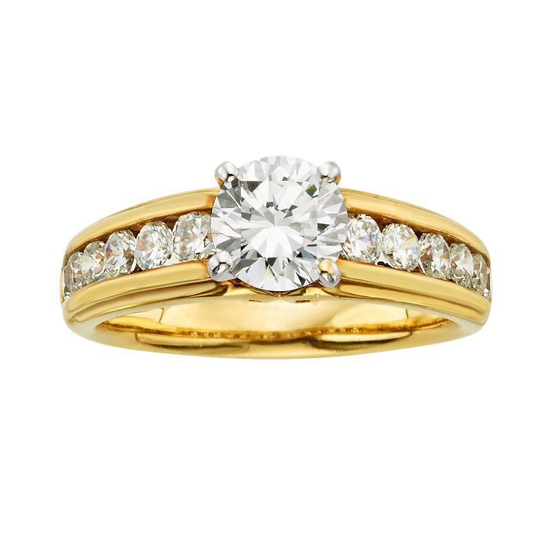 Round-Cut IGL Certified Diamond Engagement Ring in 14k Gold (3/4 ct. T.W.)