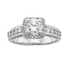 Round-Cut IGL Certified Diamond Frame Engagement Ring in 14k White Gold (1 3/4 ct. T.W.) by